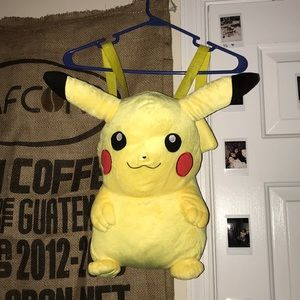 Handbags - Stuffed Pikachu Backpack